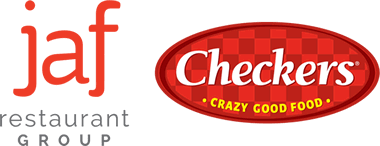 jaf restaurant group logo with Checkers logo